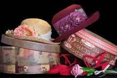 Chapéus e caixas Imagens de Stock Royalty Free