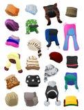 Chapéus forrado a pele das mulheres Fotos de Stock