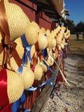 Chapéus na exposição imagens de stock