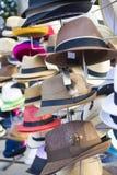 Chapéus na exposição Imagens de Stock Royalty Free