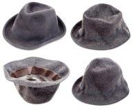 Chapéus negros velhos imagens de stock