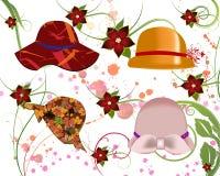 Chapéus para mulheres Fotos de Stock Royalty Free