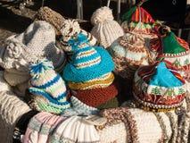 Chapéus tradicionais de Madeira em uma tenda de rua em Funchal madeira portugal Fotos de Stock