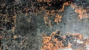 Chapa de aço listrada velha do preto e da laranja ilustração stock