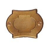 Chapa de matrícula do bronze do vintage Imagem de Stock