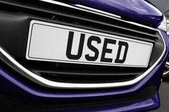Chapa de matrícula do carro usado Fotografia de Stock