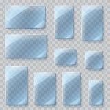 Chapa de vidro transparentes Transparência somente no arquivo do vetor Foto de Stock