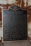 Chapa do farol dos quebra-mares, Lewes, Delaware Fotografia de Stock Royalty Free