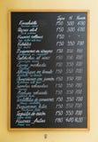 Chapa do quadro-negro dos Tapas Imagem de Stock
