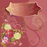 Chapa do vetor em cores do fundo da flor Fotos de Stock