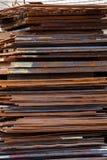 Chapa metálica crua na indústria da construção da fabricação Fotografia de Stock