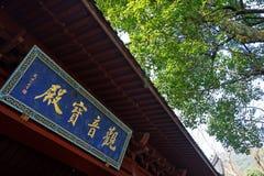Chapa no chinês no templo Hangzhou de Linying Imagens de Stock Royalty Free