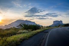Chapada Diamantina国家公园-巴伊亚,巴西日落视图  免版税图库摄影