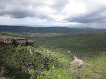Chapada Diamantina krajobraz i niebo Zdjęcia Stock
