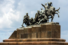 Chapaev的纪念碑 库存照片