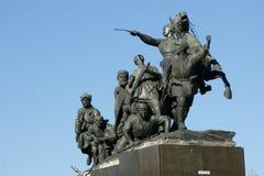 Chapaev纪念碑 免版税库存图片