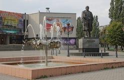 chapaevmonument till v I Lenin i Kaliningrad (Ryssland) Royaltyfri Fotografi