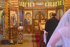 Wedding of in Orthodox Church stock photos