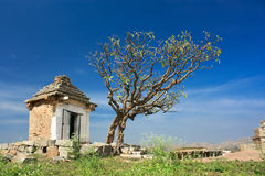 Chapain on the sacred Hemakuta hill, Hampi. The ancient hindu city, Hampi , India stock photos