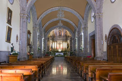 Chapala Church Altar and Nave Stock Photo