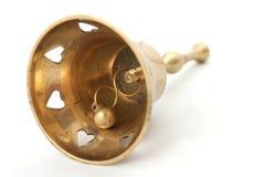 Chapaleta de cobre amarillo del Handbell Imágenes de archivo libres de regalías