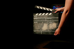 Chapaleta de la película foto de archivo