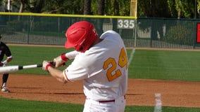2019 Chaparral Firebird Baseball vs. Brophy Broncos. Tyler Stone, Chaparral batter swings the bat during Chaparral Firebirds vs. Brophy Broncos at Jerry Dawson stock photography