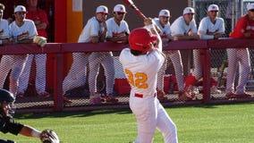 2019 Chaparral Firebird Baseball vs. Corona del Sol Aztecs. Teagan Carey, Chaparral Batter swings the bat during Chaparral Firebirds vs. Corona del Sol Aztecs at royalty free stock photos