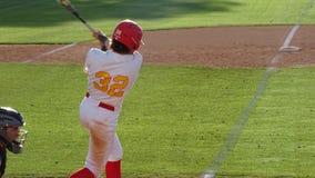 2019 Chaparral Firebird Baseball vs. Mountain Ridge Mountain Lions. Teagan Carey, Chaparral during Chaparral Firebirds vs. Mountain Ridge Mountain Lions at stock photo
