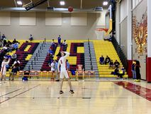 ChaparralFirebird basket 2018-19 vs Sandra Day nolla 'Connor Eagles royaltyfria foton
