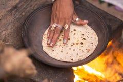 chapati να προετοιμαστεί Στοκ Εικόνα