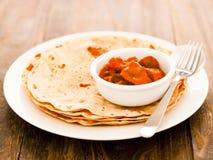 Chapati photographie stock libre de droits