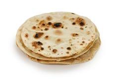 Chapati, flatbread sans levain indien image libre de droits