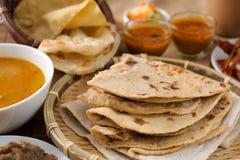 Chapati i roti canai obraz stock