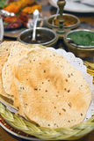 Chapati. Indian chapati bread in basket, selective focus Royalty Free Stock Photo