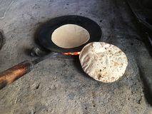Chapati. Indian Cuisine Food Round Chapati royalty free stock images