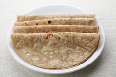Chapati. Indian flat bread chapathi served on palte Stock Photo