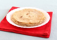 Chapati or Indian Flat Bread Stack Stock Image