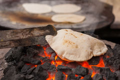 Chapati (Indian flatbread) stock images