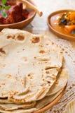 Chapati lub mieszkanie chleb obraz royalty free