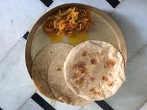 Chapati. With onion vegetable Stock Photo