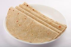 Chapati savoureux fait de farine de blé image stock