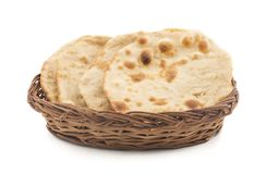 Chapati Or Tanturi Roti. Indian whole wheat flat Royalty Free Stock Photography