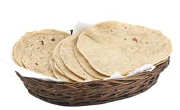 Chapati Or Tanturi Roti. Indian whole wheat flat bread stock photo