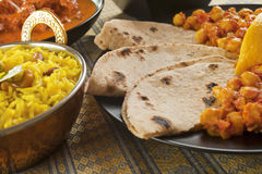 Chapatis with Channa Dhal Royalty Free Stock Photos