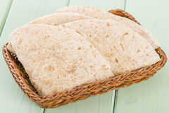 Chapatis. Traditional South Asian whole wheat flatbread stock photo