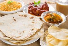 Chapatti roti or Flat bread Stock Photography