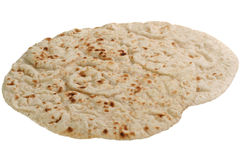Chapattis on white Royalty Free Stock Photography