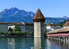 Chape Bridge at Lucerne Royalty Free Stock Photography