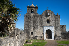 The chape at presidio la bahia texas. The stone built chapel at presidio la bahia fort in goliad texas stock photo